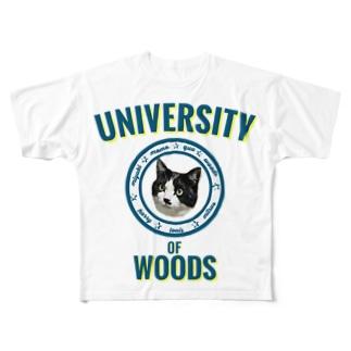 WOODS UNIVERSITY Full graphic T-shirts
