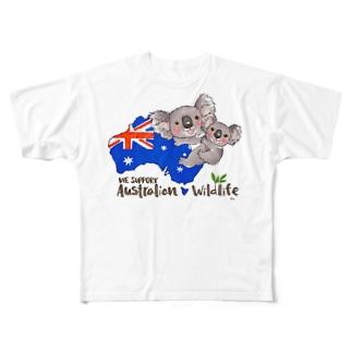 オーストラリアへの寄付 Full graphic T-shirts