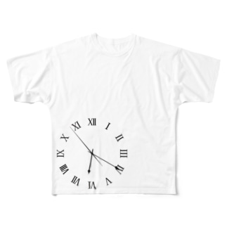時計 06:20 Full graphic T-shirts