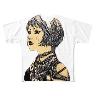 白髪鬼 Full graphic T-shirts