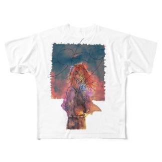 和御くんと空シリーズー黄昏ー Full graphic T-shirts