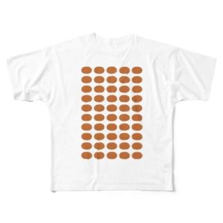 おでん・さつま揚げ Full graphic T-shirts