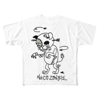 腐れネコ2 Full graphic T-shirts