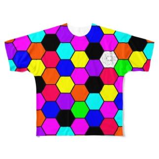 カラフル Full graphic T-shirts