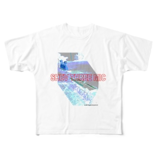 SHEV THREE MIC Full graphic T-shirts