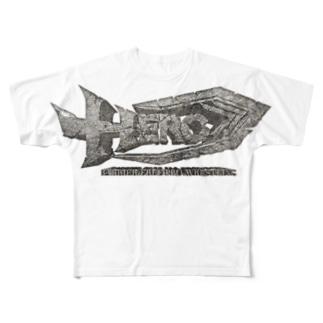 HERO立体ロゴ Full graphic T-shirts