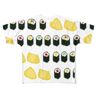 お寿司(太巻き・細巻き・いなり寿司) Full graphic T-shirts