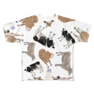 乳牛いっぱい🐄Tシャツ Full graphic T-shirts