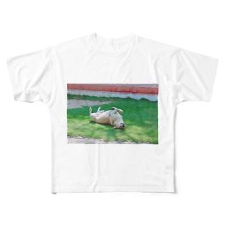 世界のノラ犬さんたち。(ひっくり返るえでぃしょん) Full graphic T-shirts