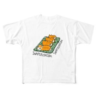 稲荷寿司バ Full graphic T-shirts