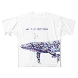 WHALE CRYING フルグラ Full graphic T-shirts