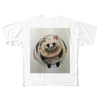 Fat tanuki Full graphic T-shirts