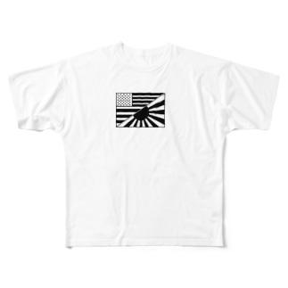 アメリカ日章旗 Full graphic T-shirts