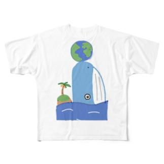 地球の外側Tシャツ Full graphic T-shirts