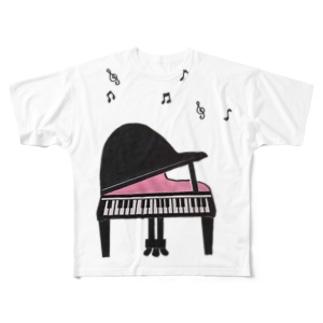 グランドピアノ Full graphic T-shirts