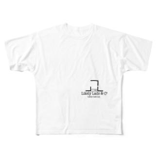 らいくりロゴ Full graphic T-shirts