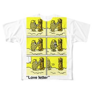 """タダユキヒロ""""Love letter"""" post Full graphic T-shirts"""