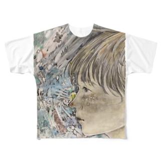 中学2年3学期の少年 Full graphic T-shirts