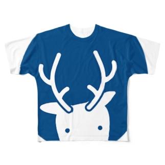 シカテ Full graphic T-shirts