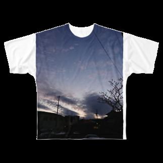 そっちの夕暮れ時と逆光 Full graphic T-shirts