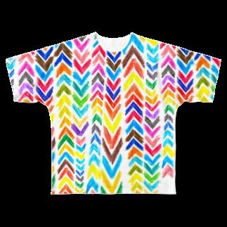 megunicoのカラフルあみめ Full graphic T-shirts