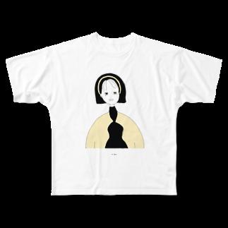 natsukoroの表から見た顔と裏の顔 Full graphic T-shirts