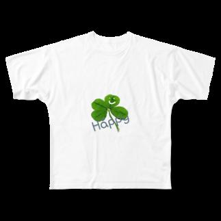 Rocksinkoのよつば様Happy撒き散らし Full graphic T-shirts