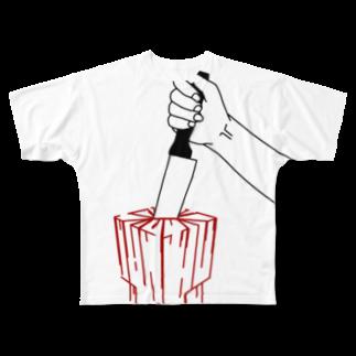 gozoloperのCUBE Full graphic T-shirts