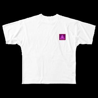 アメリカンベースのパワー デザイン Full graphic T-shirts