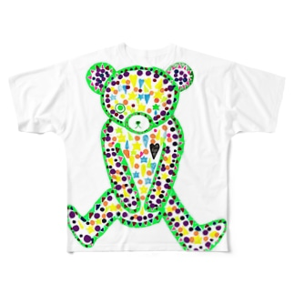 悪い子クマクマ Full graphic T-shirts