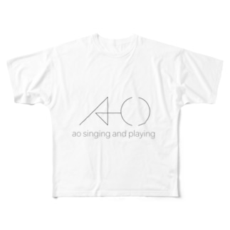 ao singing and playing Full graphic T-shirts