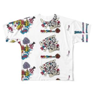 WATARoom総柄 Full graphic T-shirts