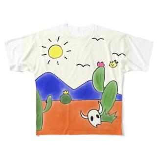 クマバチとメキシカンタイル Full graphic T-shirts