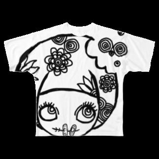 くもをもつかむたみの秘密主義ちゃん Full graphic T-shirts