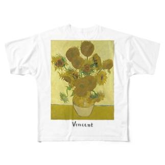 ゴッホ ひまわり ヴィンセント Full graphic T-shirts
