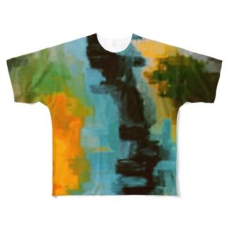 遠赤外線 Full graphic T-shirts