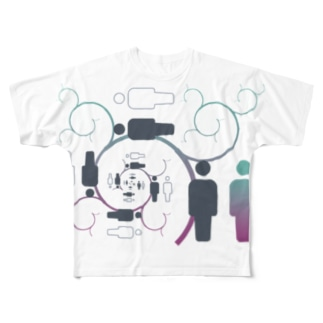 内部旅行 Full graphic T-shirts