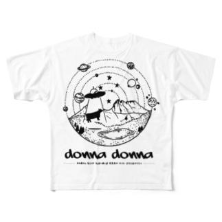 [みんなの童謡] ドナ・ドナ Full graphic T-shirts