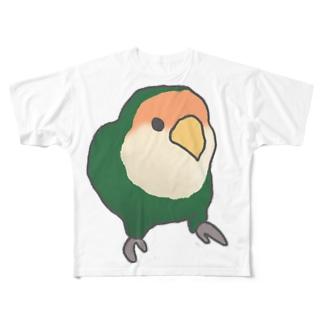 コザクラインコのぐりちゃん Full graphic T-shirts