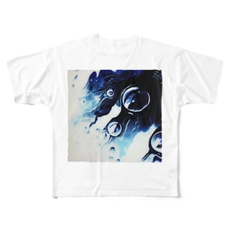 floating noir Full graphic T-shirts