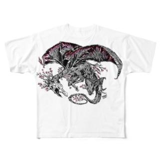 Dragon Sakura 桜龍 Full graphic T-shirts