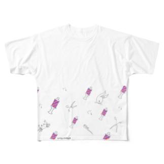 とこやさんぐるぐる Full graphic T-shirts