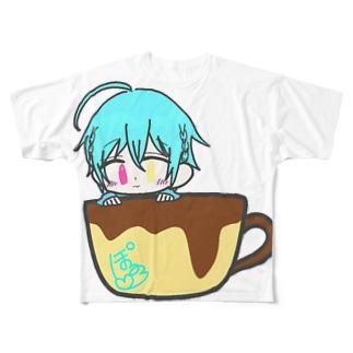 マグカップぽるろグッズ Full graphic T-shirts