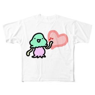 ハートタッチコペトン Full graphic T-shirts