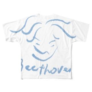 ベートーヴェン Beethoven Full graphic T-shirts