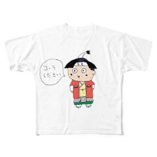 コーラ好きのももくん Full graphic T-shirts
