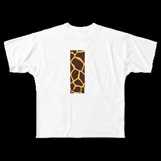 がつの首が長い人用 Full graphic T-shirts
