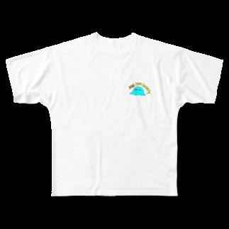 ema ショップの癒し 謎の生物 ロゴ ARE YOU HAPPY? Full graphic T-shirts