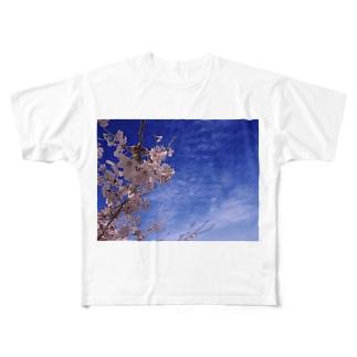 桜 サクラ cherry blossom DATA_P_093 Full graphic T-shirts