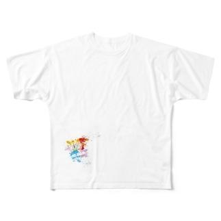 MR,BRAINオフィシャルグッズのMR,BRAIN ロゴTシャツ Aカラー Full graphic T-shirts